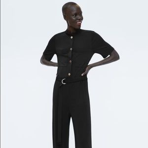 Zara flowy jumpsuit with buttons